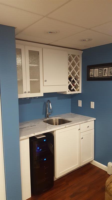 Mini Kitchen and Wine Rack