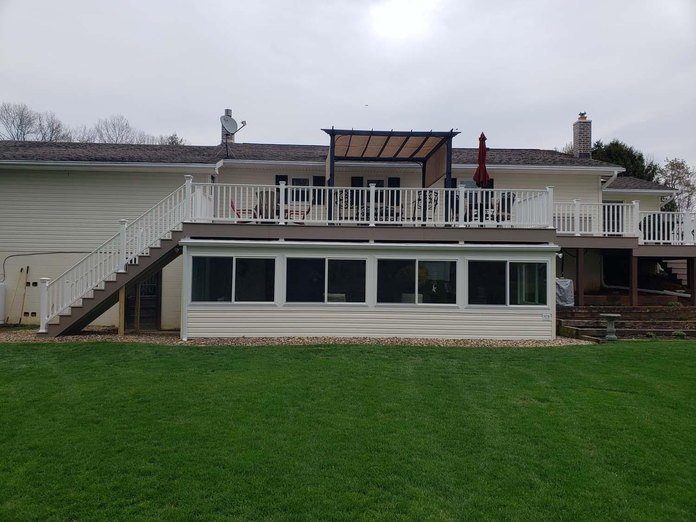 sunroom & deck